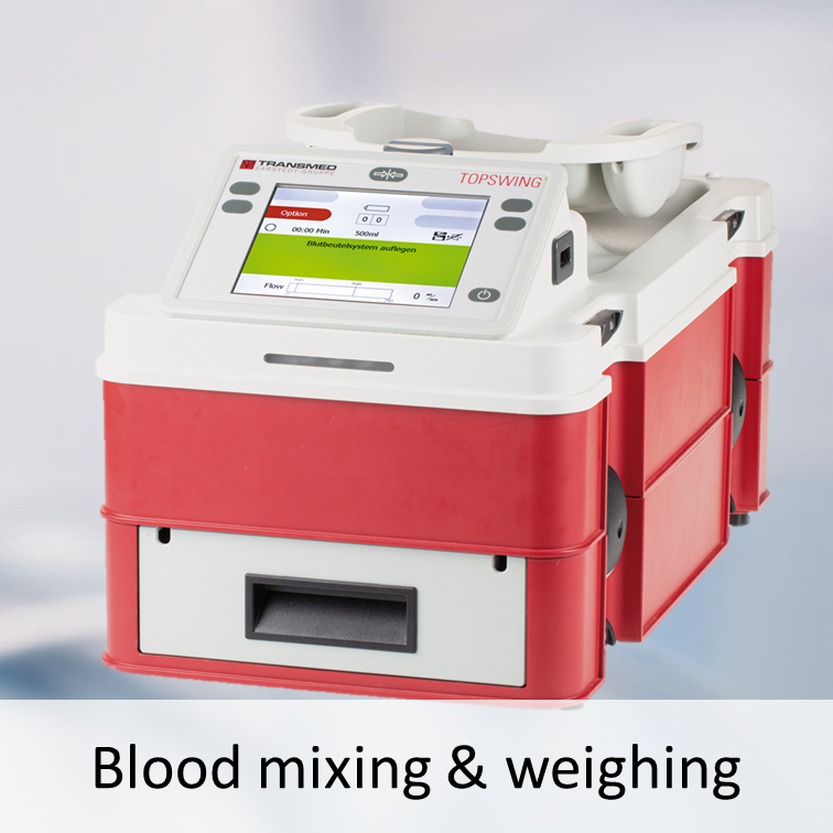 Blood mixing scales TOPSWING PRO II and TRANSWAAG PRO