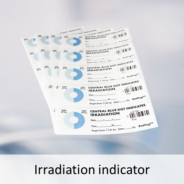 Irradiation indicators for blood products